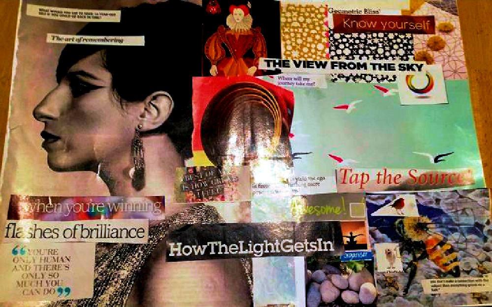 Inspired to Achieve: Happenista Retreat 2017 Collage Workshop